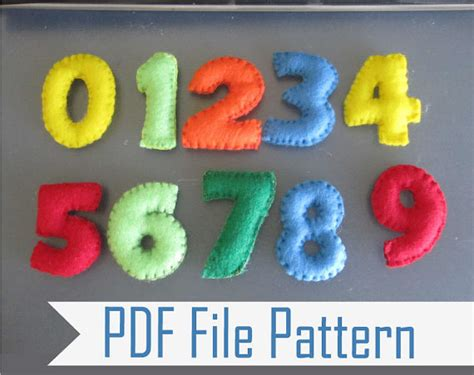 make a pattern with numbers felt number sewing pattern from 1 to 9 a807 the pattern