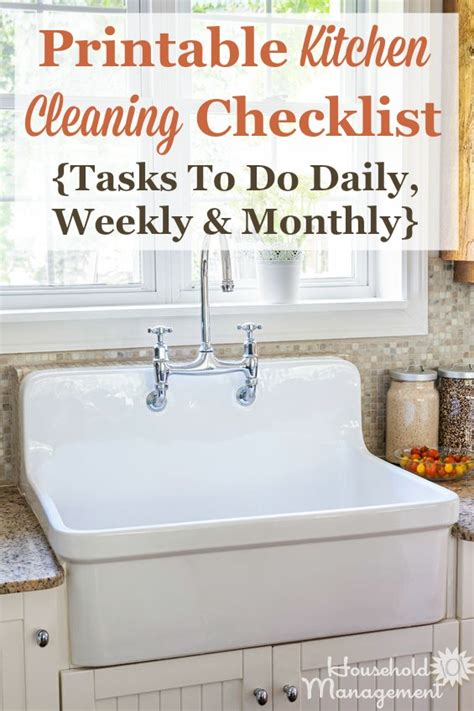 The Daily Kitchen by Kitchen Cleaning Checklist Daily Weekly And Monthly