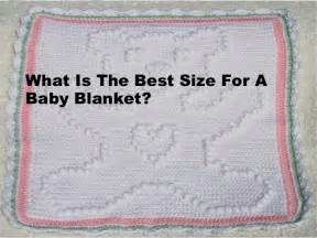 what is the best size for a baby blanket