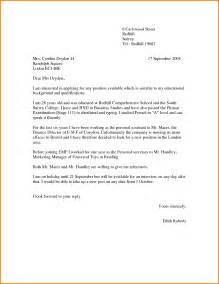 covering letter for a vacancy doc 500708 application letter exle cover letter