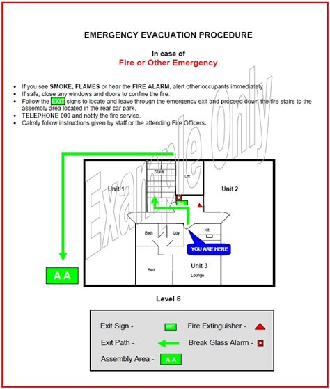 occupant emergency plan template emergency evacuation diagram template periodic