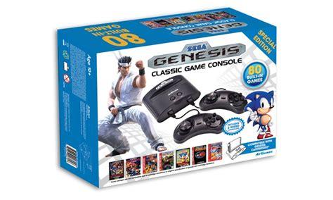 sega genesis classic console with 80 built in sega genesis classic console groupon
