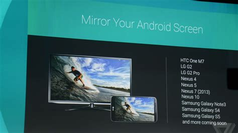 mirror android to tv chromecasts will soon be able to mirror your android phone the verge