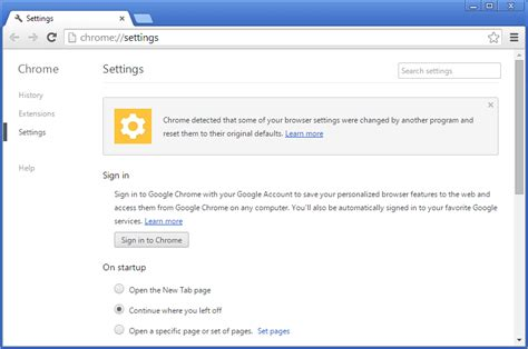 chrome reset google chrome changing browser settings automatically