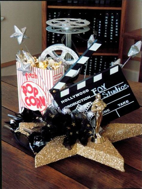 centerpieces movies and movie themed parties on pinterest