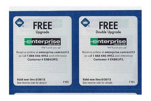 enterprise rental coupons september 2018