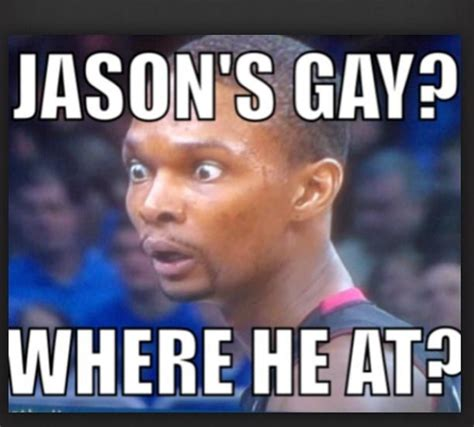 Meme Gay - funny chris bosh meme