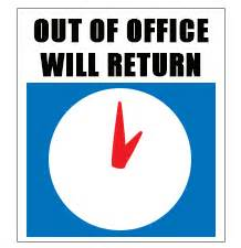 out of the office sign template out of office pictures clipart best