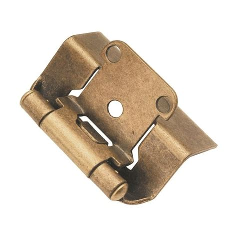 semi concealed cabinet hinges hickory hardware full wrap 1 2 quot overlay hinge pair antique