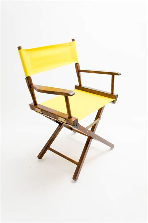 yellow directors chair gold medal directors chair commercial walnut 18 quot yellow