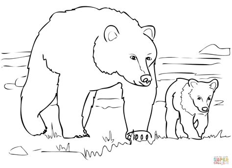 free printable coloring pages black bear grizzly bear family coloring page free printable