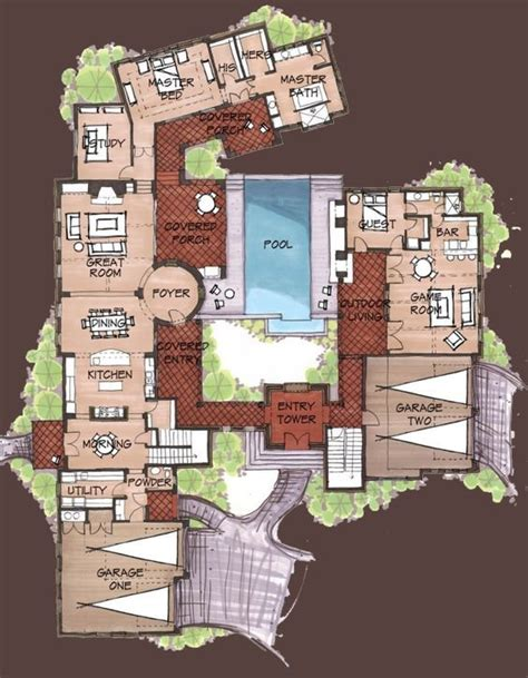 mexican house floor plans 25 best ideas about hacienda style homes on pinterest