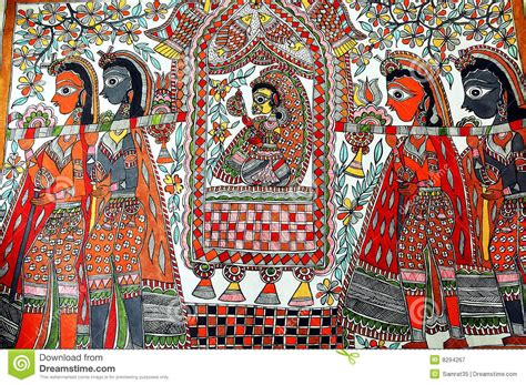 painting free version madhubani painting stock image image of hindu asia