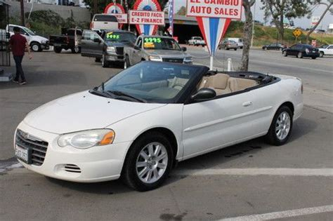 2004 Chrysler Sebring Gtc Convertible by Find Used 2004 Chrysler Sebring Gtc Convertible 2 Door 2