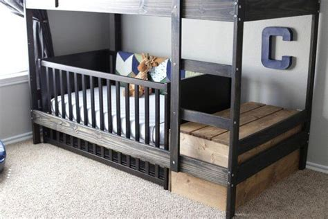Crib Loft Bed Cribs And Bunk Bed On
