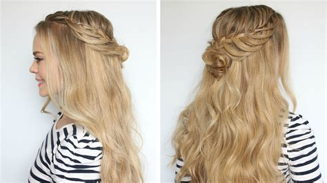 half up hairstyles for hair half up half hair styles glam gowns
