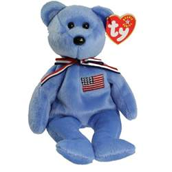 ty beanie baby america the bear blue version 8 5 inch