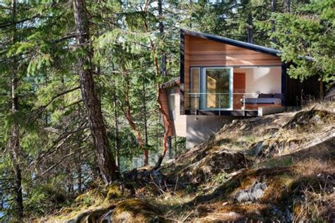 home design courses bc small retreat into the middle of forest