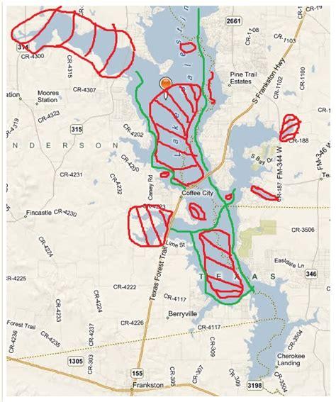 texas bank fishing map palestine and stumps bass fishing texas fishing forum