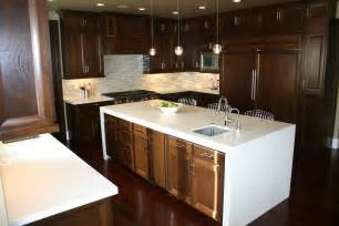 the granite gurus walnut cabinets with countertops