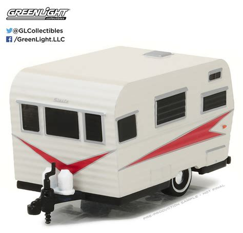 Greenlight 1959 Catolac Travel Trailer 1959 siesta travel trailer hitched homes series 1 1 64 diecast greenlight 1 64 scale