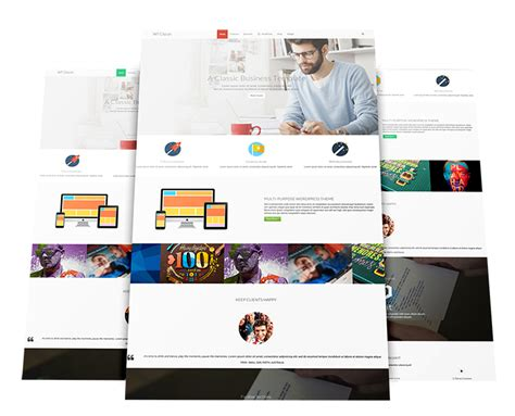 business joomla template free wt clean
