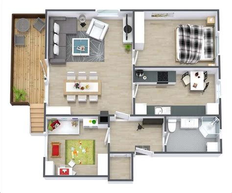 small 2 bedroom apartment plans 10 awesome two bedroom apartment 3d floor plans