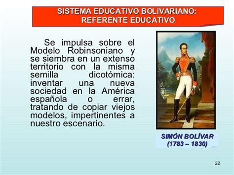 Modelo Curricular Bolivariano Curriculum Bolivariano