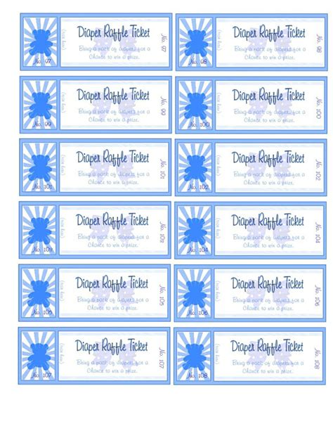 printable numbered tickets free 6 best images of free printable numbered raffle ticket