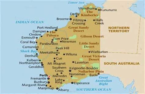 map of western australia with cities and towns map of western australia with cities my
