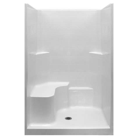 Shower Stall Products Standard 48x37 One Low Threshold Shower Stall Kit