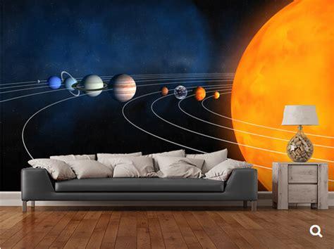 solar system space wallpaper mural kool rooms for kool kids solar system murals for walls pro deal hunters