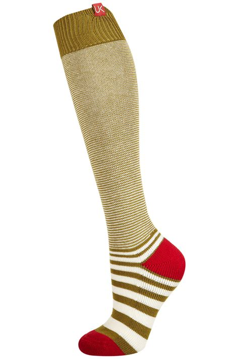 knit knee high socks topshop knit knee high socks in green khaki lyst