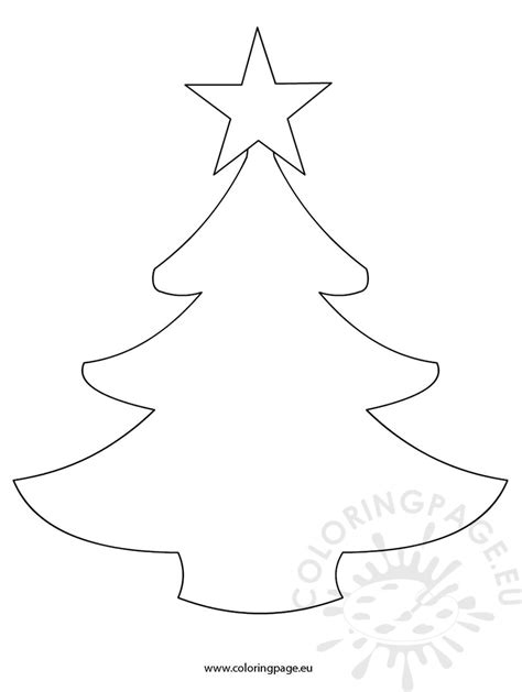 xmas templates for pages simple christmas tree template coloring page