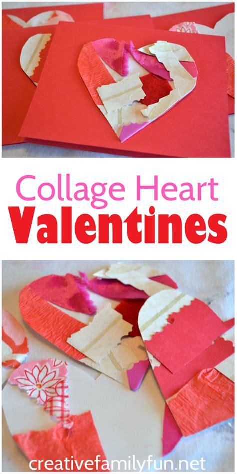 collage valentines creative family