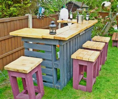 outdoor projects design diy wooden pallet bar pallets designs