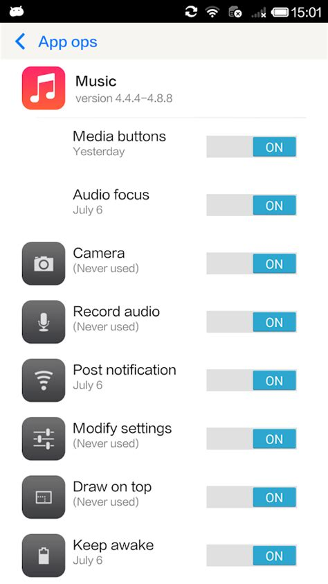 Permissions apk android