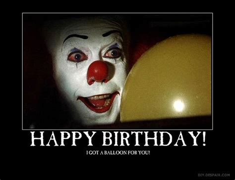 Halloween Birthday Meme - 25 best ideas about happy birthday clown on pinterest