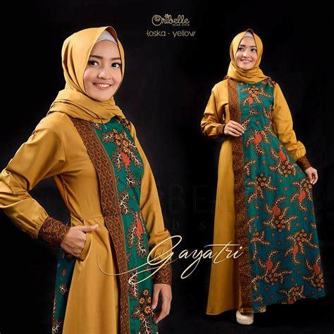 gamis batik kombinasi yang fresh dan maxi gayatri batik