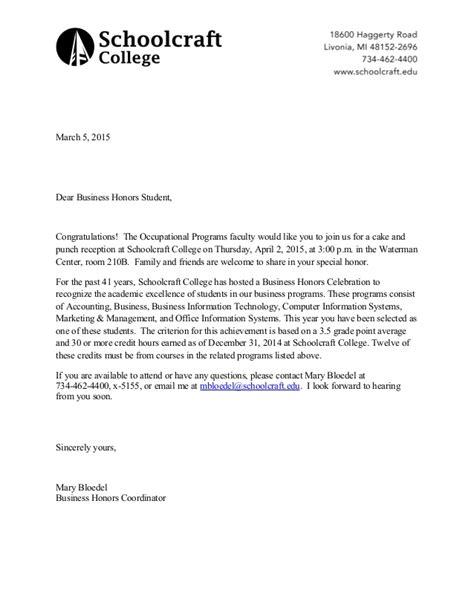 Business Letter Slideshare Business Honors Letter