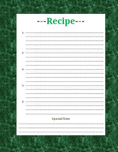 word document recipe card template recipe card template for word beepmunk