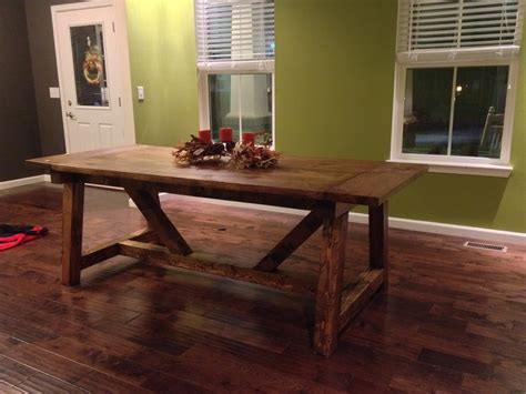 ana white 4x4 truss dining room table and bench diy ana white 4 x 4 truss beam table diy projects