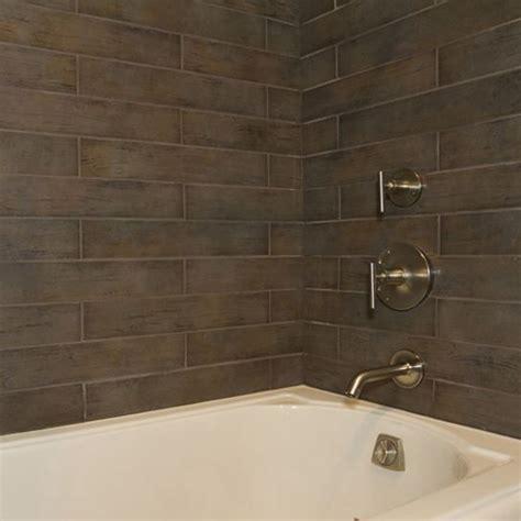 bathroom ceramic tile designs looking for bathroom daltile s timber glen in espresso on the shower walls as