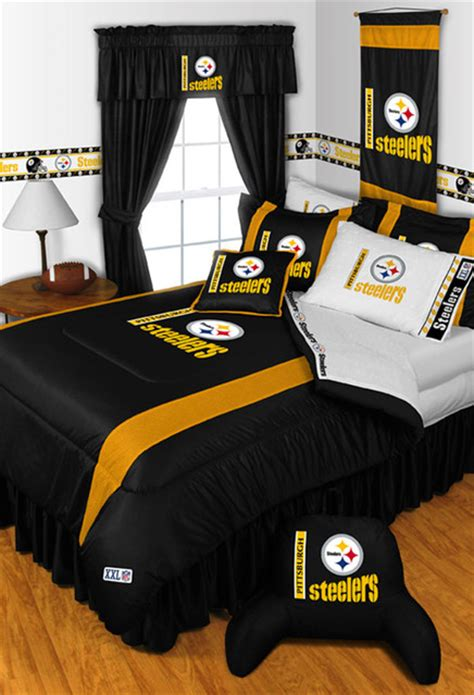 nfl bedroom decor nfl pittsburgh steelers bedding and room decorations