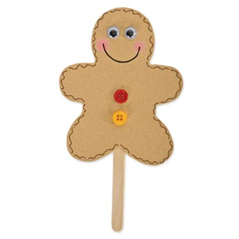 printable gingerbread man puppets puppet from fun family crafts uses a die cut but there