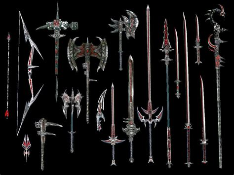 skyrim daedric armor and weapons weapon concept daedric weapons tesrenewal