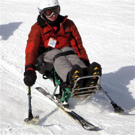 blue ridge adaptive snow sports sit down skiing bi ski
