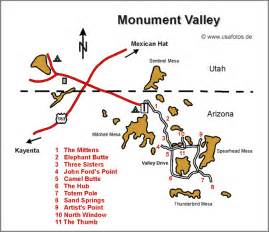 monument valley arizona map monument valley karte monument valley landkarte