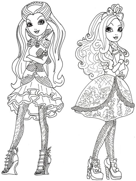 ever after high coloring pages royals ever after high coloring pages raven queen and apple