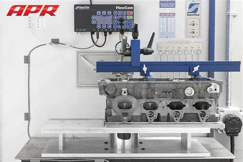cylinder head flow bench apr presents the 2 0t fsi performance cylinder head